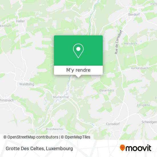 Keltenhiel (L), Grotte Des Celtes (F), Räuberhöhle (D) plan