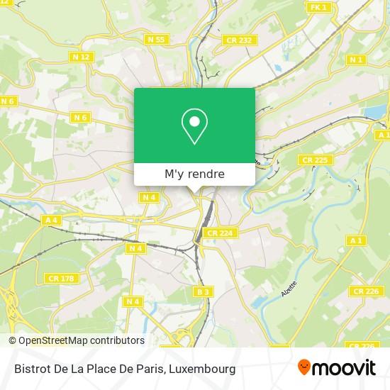 Bistrot De La Place De Paris plan
