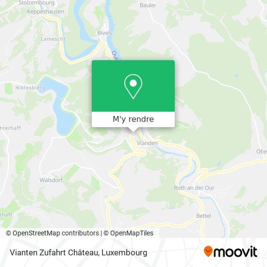 Vianten Zufahrt Chateau plan