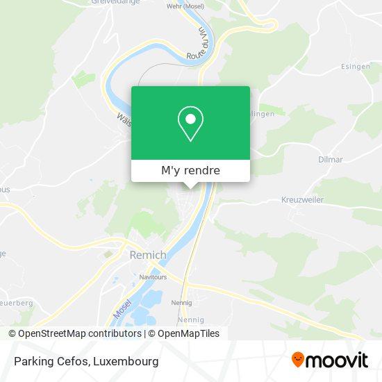 Parking Cefos plan