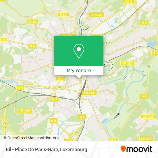 Bil - Place De Paris-Gare plan