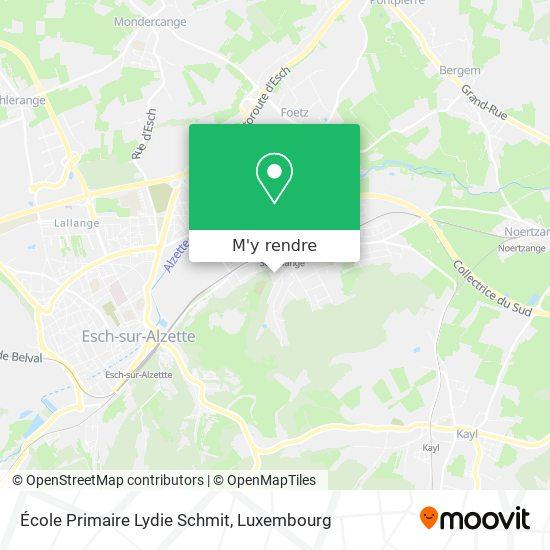 École Primaire Lydie Schmit plan