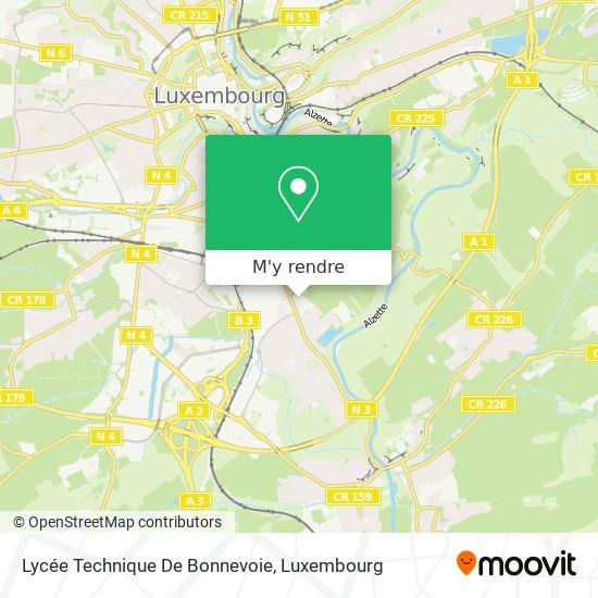Lycée Technique De Bonnevoie plan