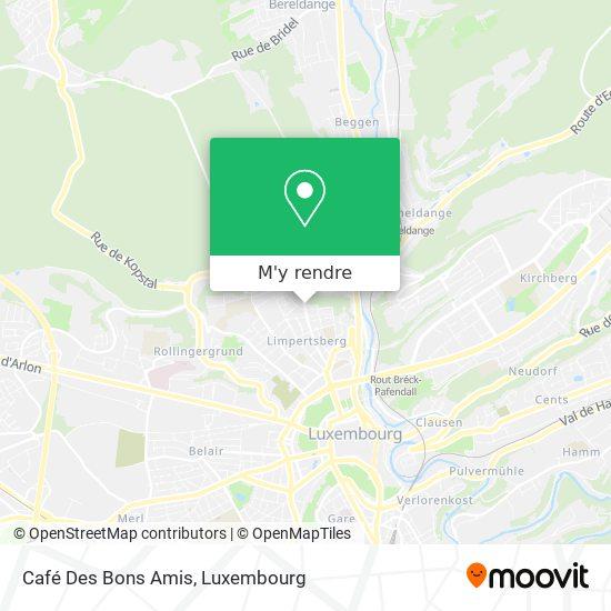 Café Des Bons Amis plan