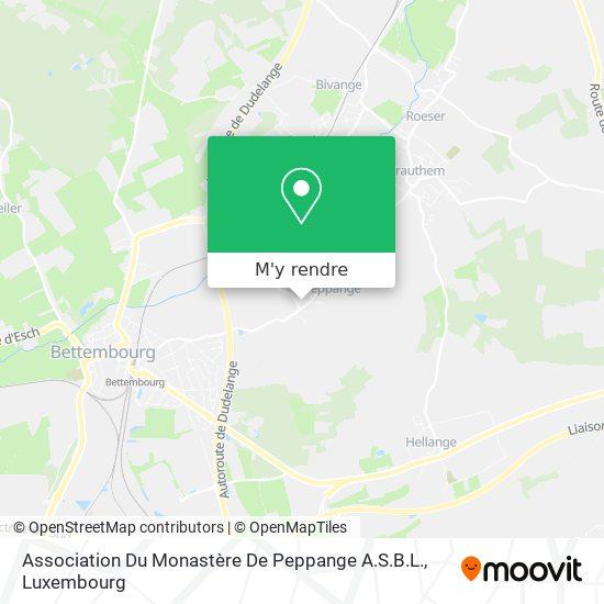 Association Du Monastère De Peppange A.S.B.L. plan
