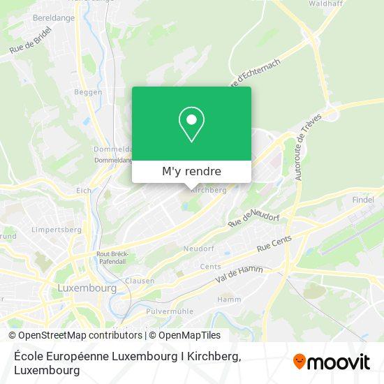 École Européenne Luxembourg I Kirchberg plan