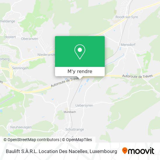 Baulift S.À.R.L. Location Des Nacelles plan