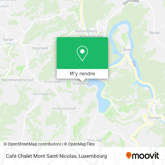 Café Chalet Mont Saint-Nicolas plan