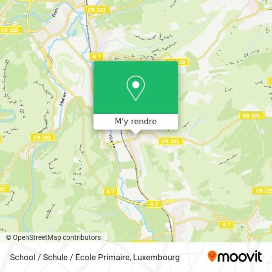 School / Schule / École Primaire plan