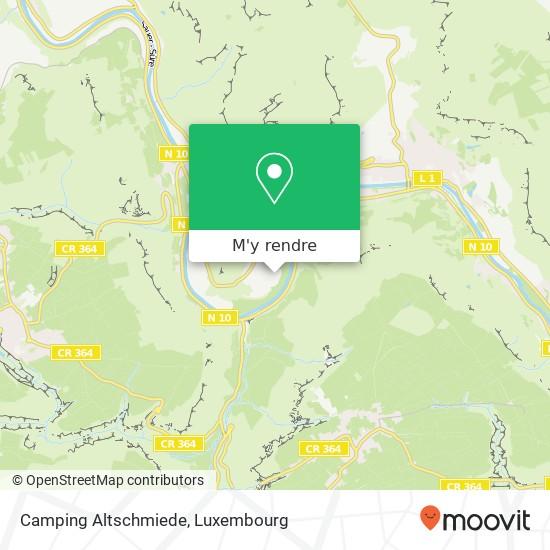Camping Altschmiede plan