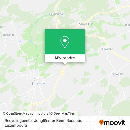 Recyclingcenter Jonglënster Beim Rossbur plan