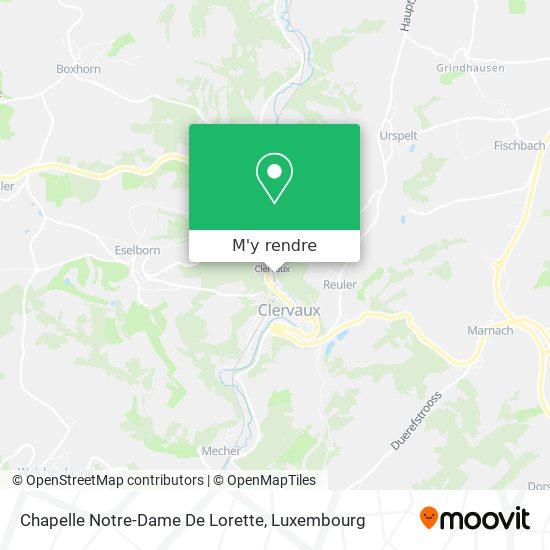 Chapelle Notre - Dame De Lorette plan