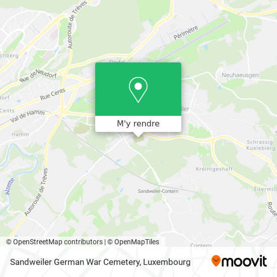 Sandweiler German War Cemetery plan