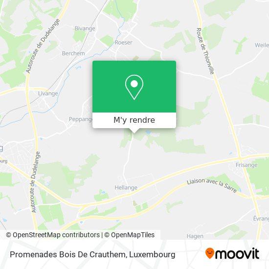 Promenades Bois De Crauthem plan