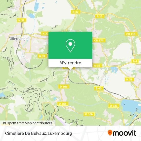 Cimetière De Belvaux plan
