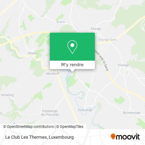 Le Club Les Thermes plan