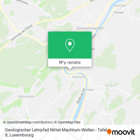 Geologischer Lehrpfad Nittel-Machtum-Wellen - Tafel 8 plan