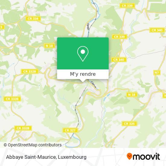 Abbaye Saint-Maurice plan