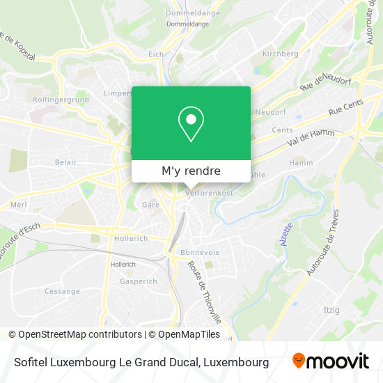 Sofitel Luxembourg Le Grand Ducal plan