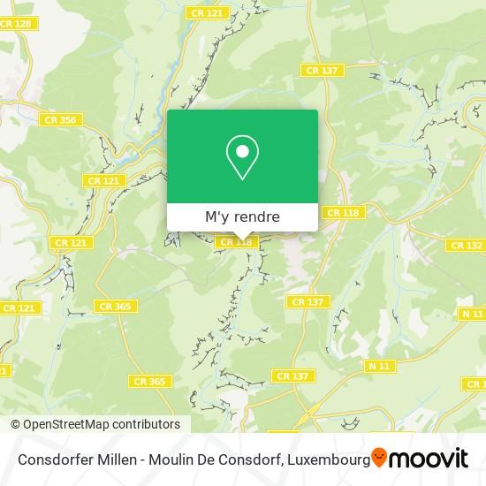 Consdorfer Millen - Moulin De Consdorf plan