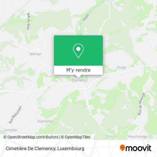 Cimetière De Clemency plan
