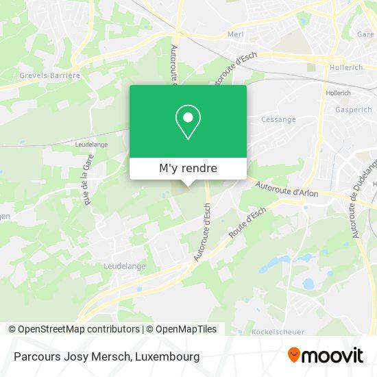 Parcours Josy Mersch plan