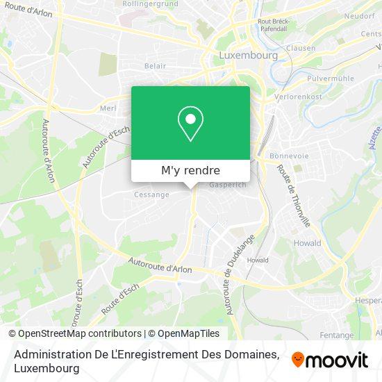 Administration De L'Enregistrement Des Domaines plan