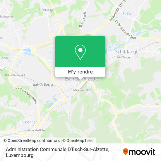 Administration Communale D'Esch-Sur-Alzette plan