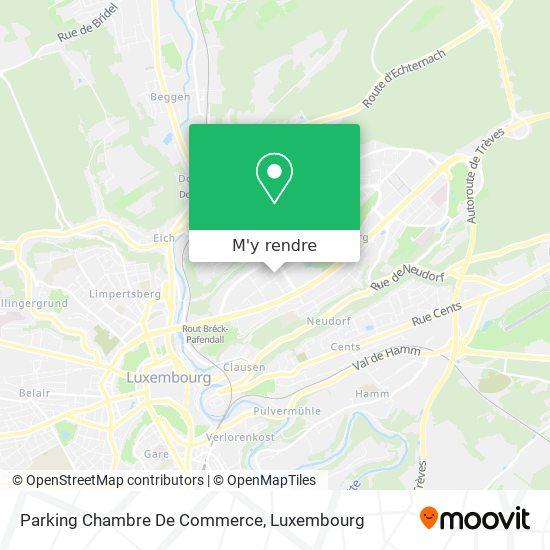 Parking Chambre De Commerce plan