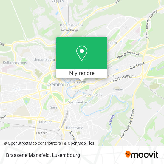 Brasserie Mansfeld plan