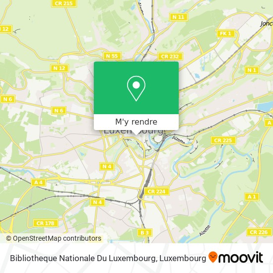 Bibliotheque Nationale Du Luxembourg plan