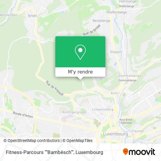 """Fitness-Parcours """"Bambësch"""" plan"""