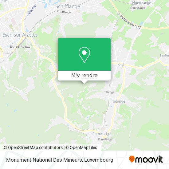 Monument National Des Mineurs plan