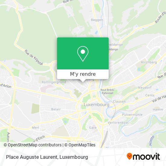 Place Auguste Laurent plan