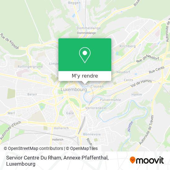 Servior Centre Du Rham, Annex Pfaffenthal plan