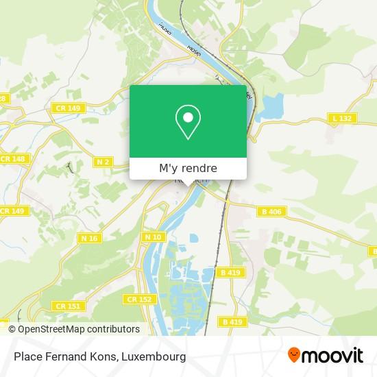 Place Fernand Kons plan