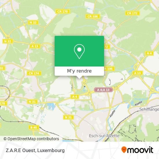 Z.A.R.E Ouest plan