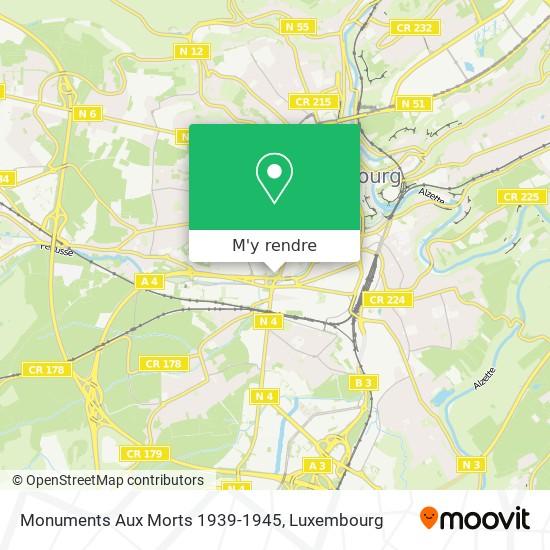 Monuments Aux Morts 1939-1945 plan