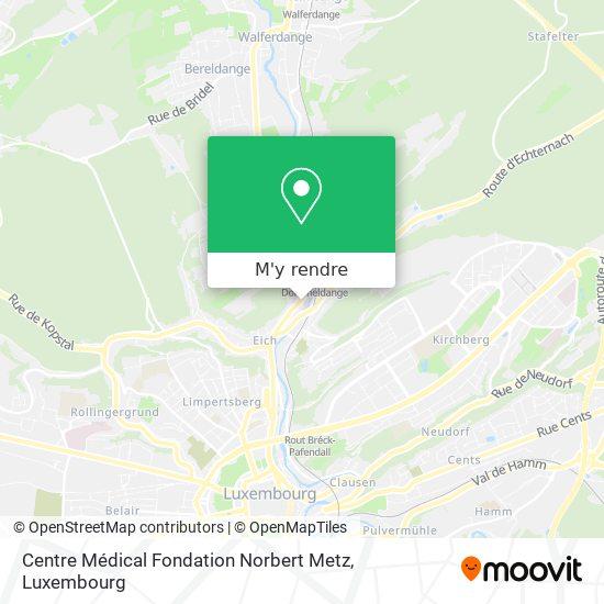 Centre Médical Fondation Norbert Metz plan
