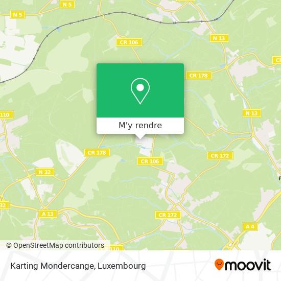 Karting Mondercange plan