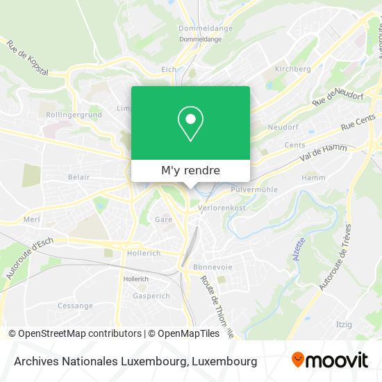 Archives Nationales Luxembourg plan