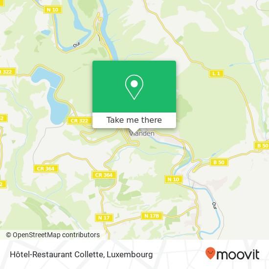 Hôtel-Restaurant Collette plan