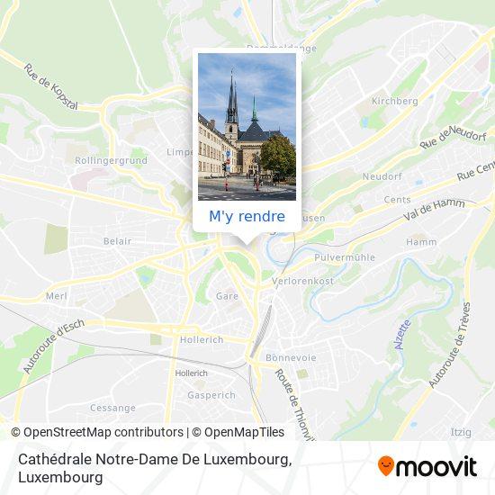 Cathédrale Notre-Dame De Luxembourg plan