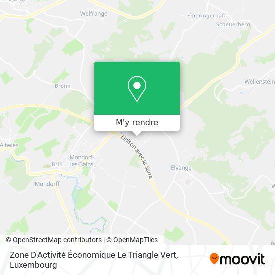 Zone D'Activité Triangle Vert plan