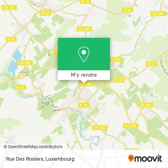 Rue Des Rosiers plan