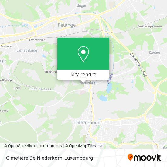 Cimetière De Niederkorn plan