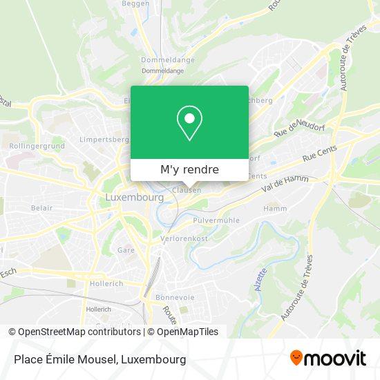 Place Émile Mousel plan