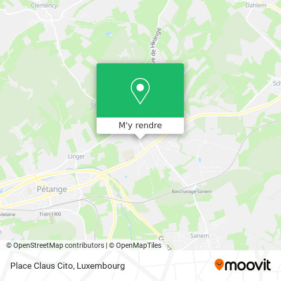 Place Claus Cito plan