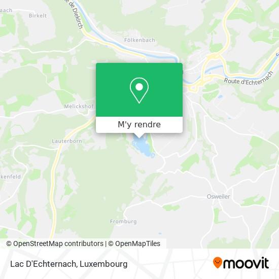 Lac D'Echternach plan