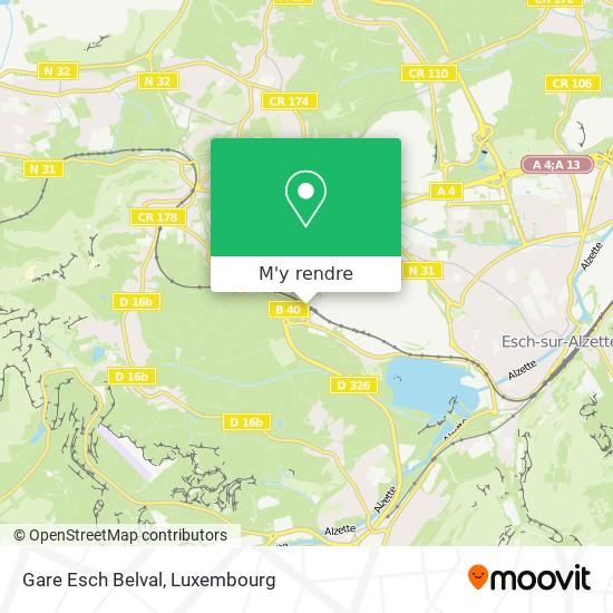 Gare Esch Belval plan